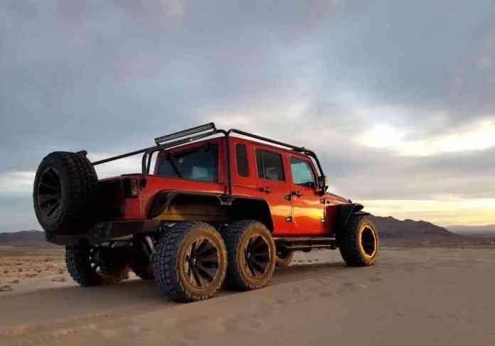 Hellcat powered 6x6 Jeep Wrangler Rubicon