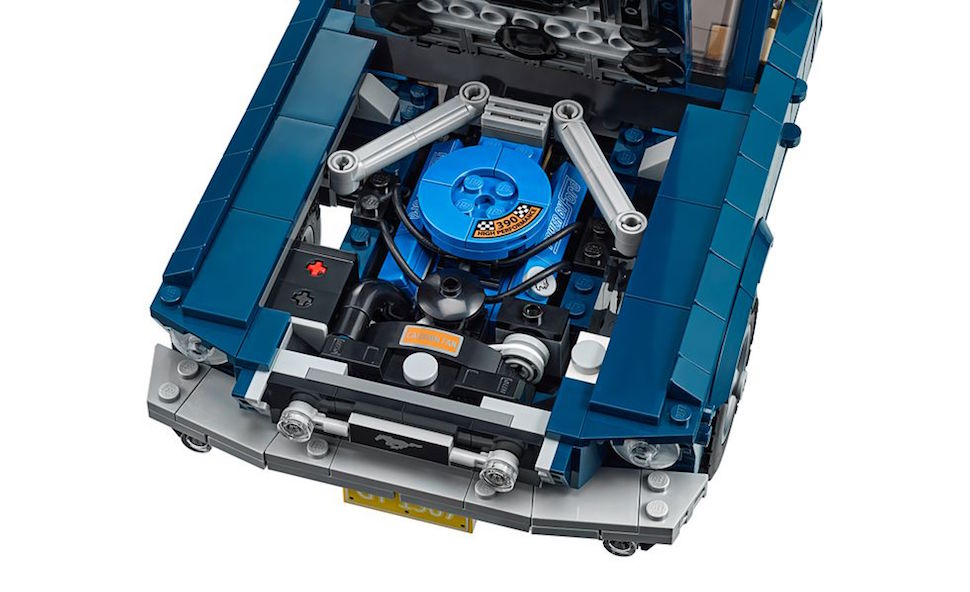 lego creator 1967 mustang fastback engine