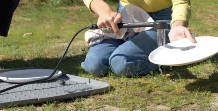 portable shower for camping and rinsing dishes