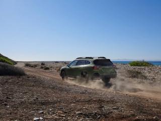 2020 subaru outback rear view driving
