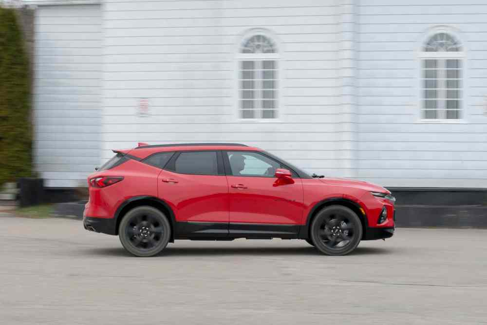 medium resolution of 2020 chevy blazer rs rolling in red amee reehal