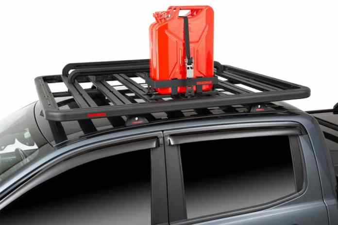 Yakima LockNLoad roof rack jerry can holder