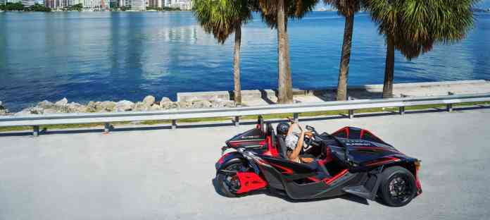 2020 polari slingshot r autocycle top view