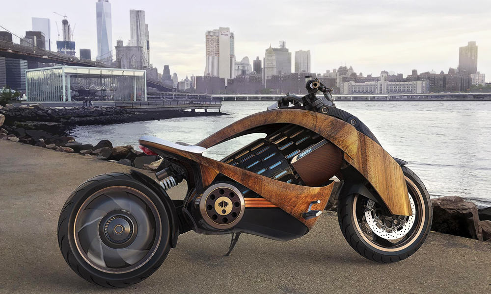 EV-1 Electric Cruiser Motorcycle by Newron Motors 1