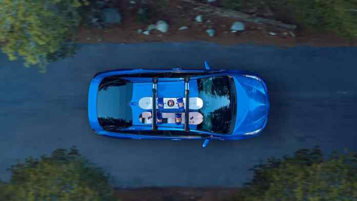 2020 Toyota Prius XLE AWD-e hatchback top view