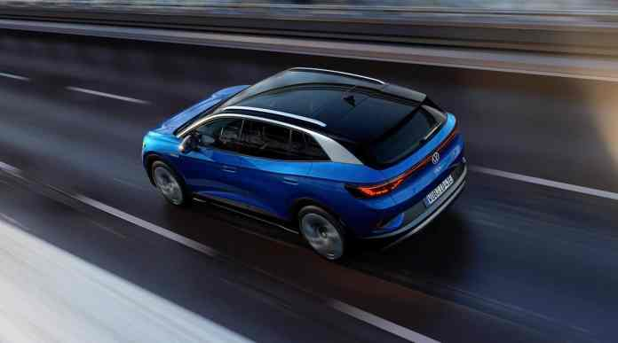 2021 VW ID4 compact electric suv rear view