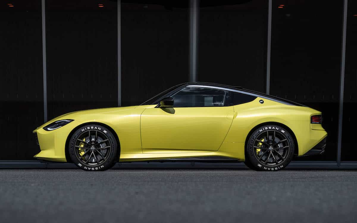 sideview of the new Nissan Z car