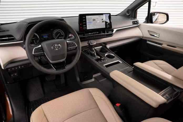 2021 Sienna Hybrid interior