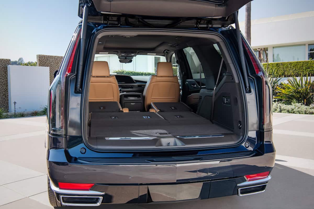 The second and third rows in the new 2021 Escalade fold nearly flat and has more than 28.5% more cargo volume than the previous generation.