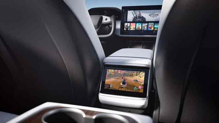2022 Tesla Model S interior rear cabin