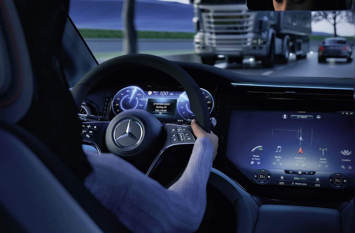 2022 Mercedes-Benz EQS electric sedan interior