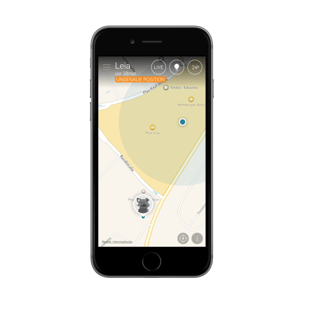 tractive gps app map