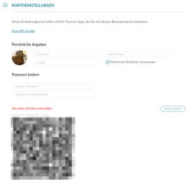 Tractive Webapp - Einstellungen