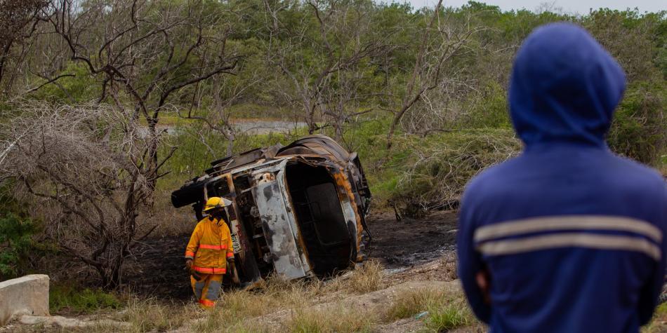 ataques a su vehículo en Tasajera