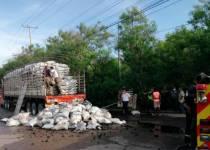 Incendio de tractomula en Cartagena