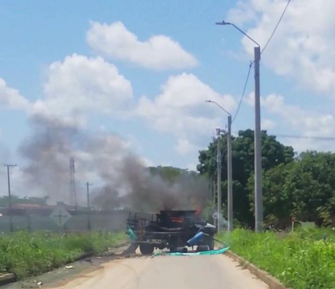 camión explotó
