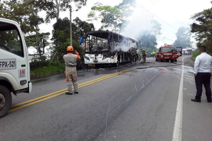 incendio bus copetrán