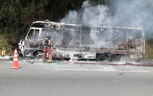 bus se incineró