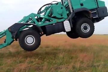 Accident ou figure en tracteur