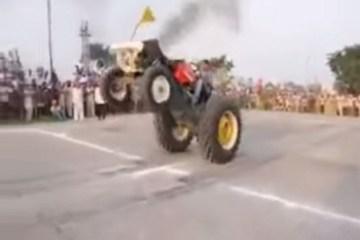 champion de tracteur stunt