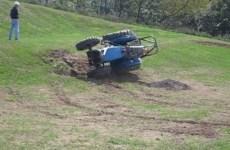 test de tracteur à la renverse