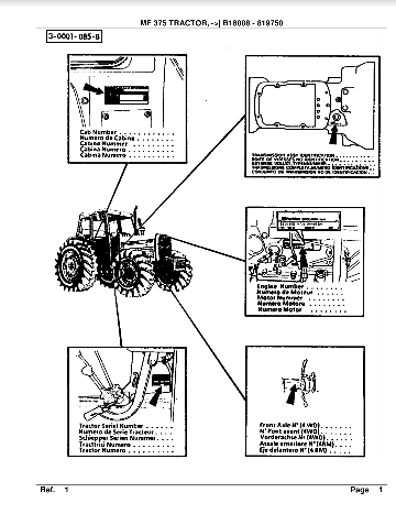 Massey Ferguson 375 B18008 Parts Manual • Tractor Manuals