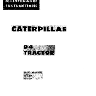 Caterpillar D4 service manual
