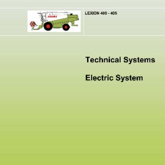 Claas Lexion 480-405 Technical Systems