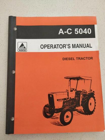 Allis-Chalmers 5040 diesel tractor operator's manual