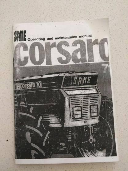 same corsaro 70 operating and maintenance manual