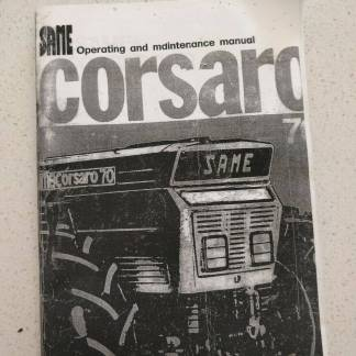 same corsaro 70 operating and maintenance manual