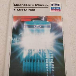FORD 7810 TRACTOR OPERATOR'S MANUAL new holland