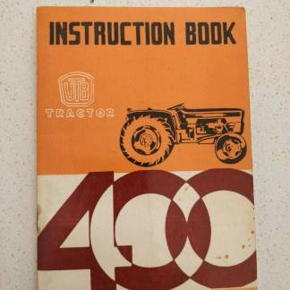 UTB Universal 400 U/V/L tractors operator instruction book
