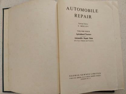 Automobile Repair Volume 4 Commercial Vehicles George Newnes