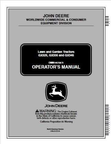 JohnDeere Operator Manual GX325GX335GX345