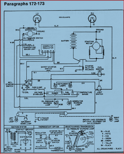 Ford Tractor Starter Solenoid Wiring Diagram : tractor, starter, solenoid, wiring, diagram, Wiring, Positive, Chasis, Grounded, TractorByNet