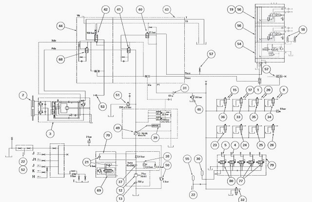 Main components of the low and high pressure MF 6290, 6270
