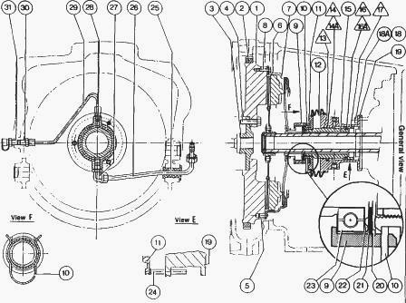 Massey Ferguson 3125, 3085 tractor Pull-type Clutch