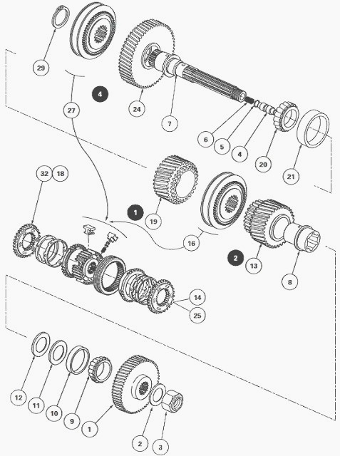 Massey Ferguson 8280 gearbox with Power Shuttle