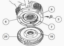 Massey Ferguson 5430,5435 PowerShuttle gearbox