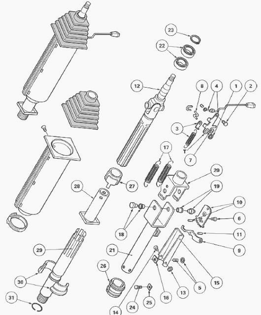 Massey Ferguson 5455 Tractor Steering column
