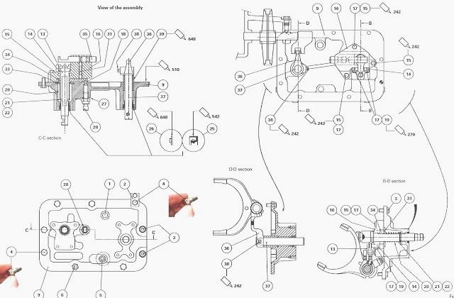 MF 5435, 5445 mechanical reverse shuttle gearbox
