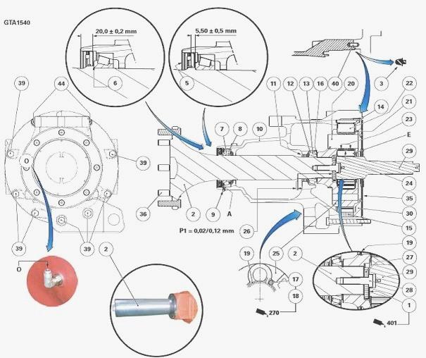 Massey Ferguson 6465, 6480, 6485 tractor rear axle