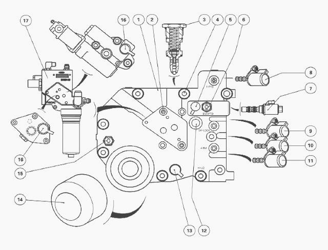 Massey Ferguson 6160, 6170 hydraulic circuit right-hand cover