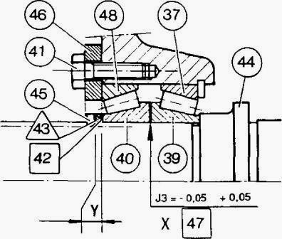 Massey Ferguson 3050, 3085 tractor Gearbox Output shaft