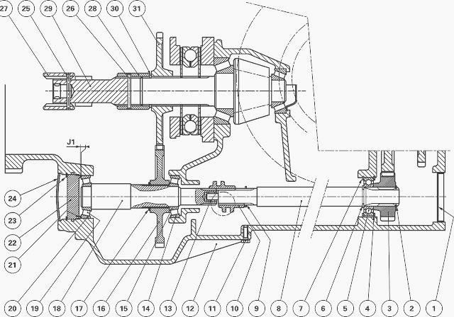 Massey Ferguson 5445, 5460 Tractor Ground PTO 2WD version