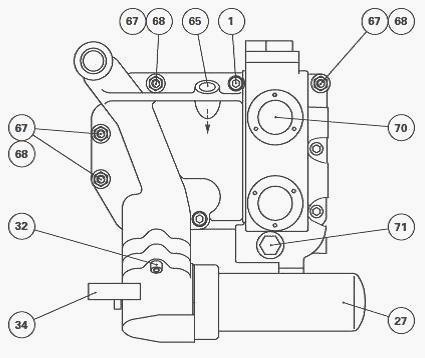 Massey Ferguson 7624, 7626 hydraulic system