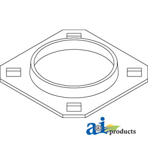 A-71130258 Hesston BEARING FLANGE Tractor Part For Sale $4