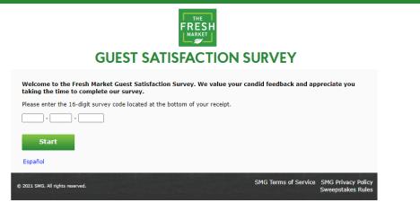 The Fresh Market Survey