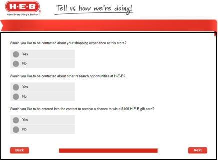 www.H-E-B.com/Survey
